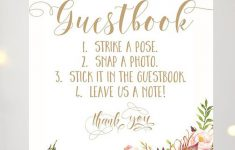 15 Amazing Wedding Guest Book Ideas – Snap Happy | Chwv | Wedding – Please Sign Our Guestbook Free Printable