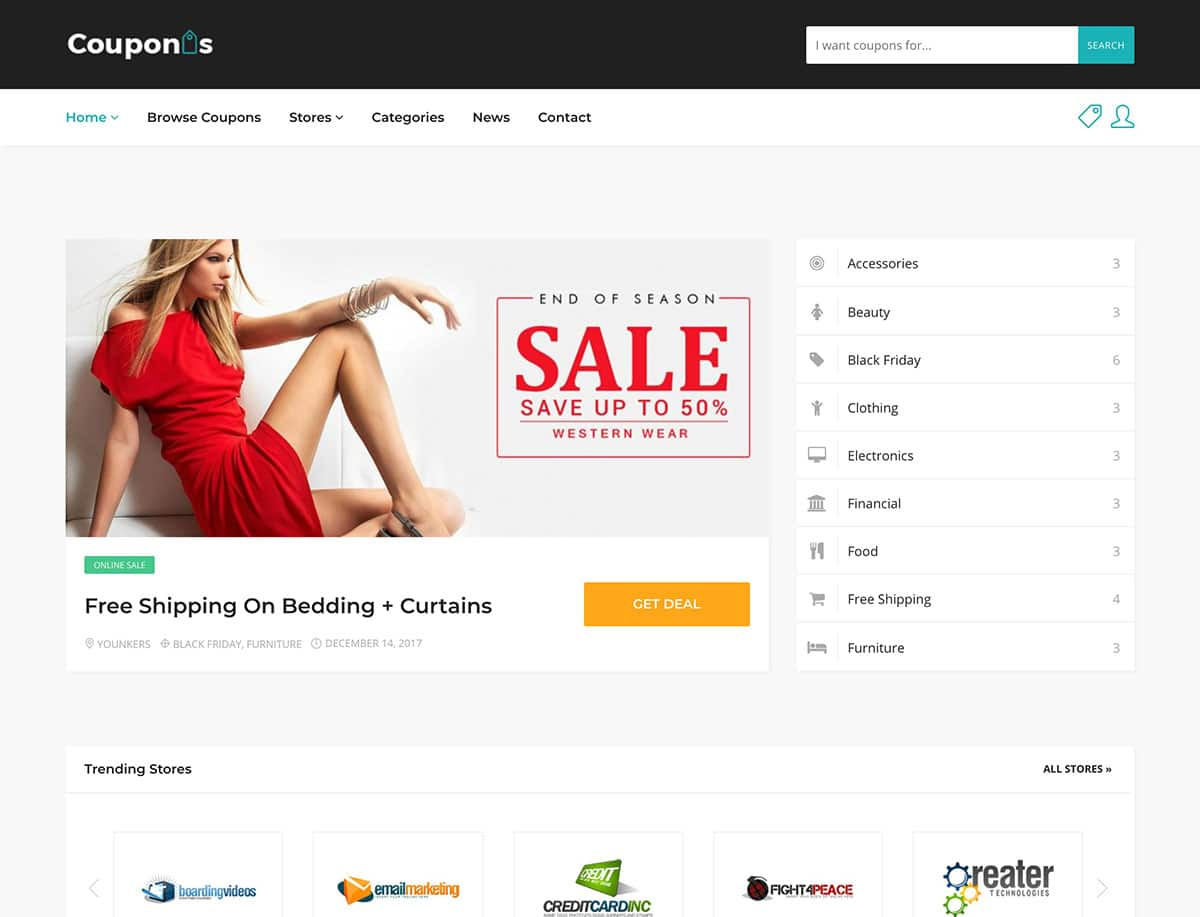 15 Best Coupon WordPress Themes & Plugins 2019 - Athemes - Free Printable Coupons Without Downloading Or Registering