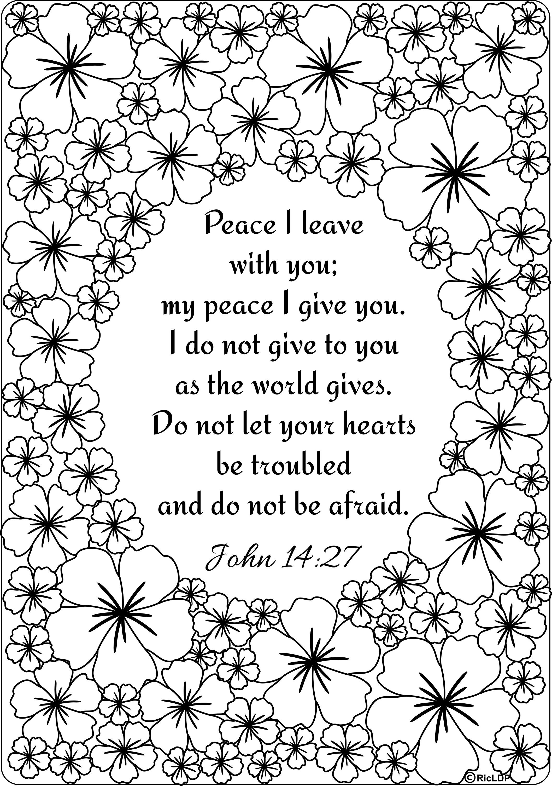 15 Bible Verses Coloring Pages - Free Printable Bible Coloring Pages With Scriptures