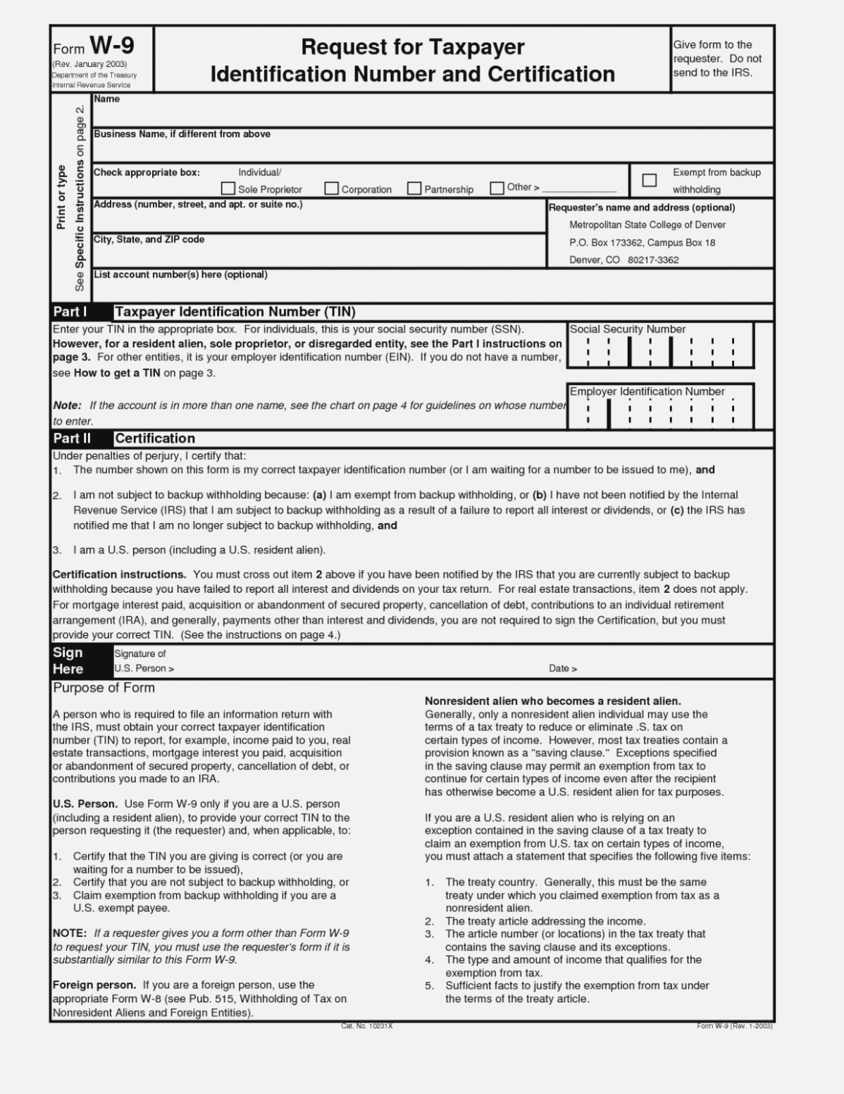 15 Exciting Parts Of | Invoice And Resume Template Ideas - Free Printable W 9 Form