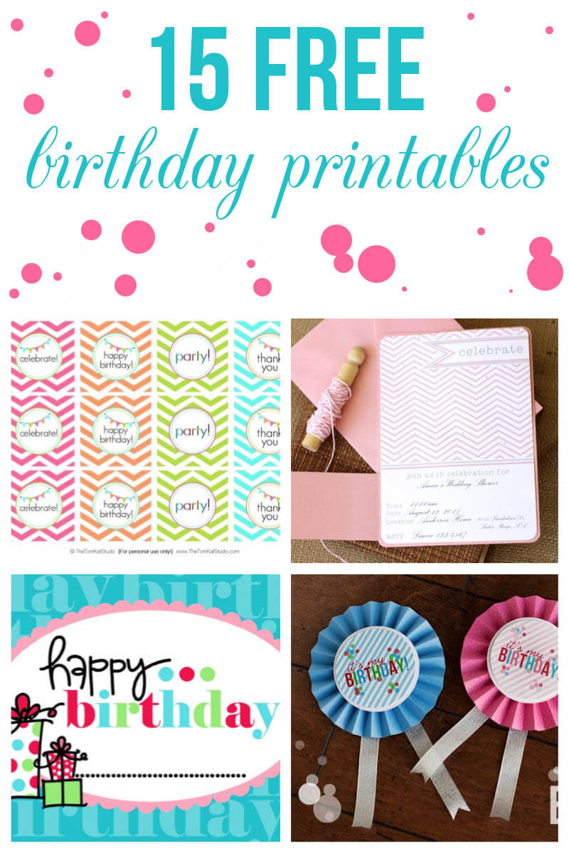 15 Free Birthday Printables - I Heart Nap Time - Thank You For Coming Free Printable Tags