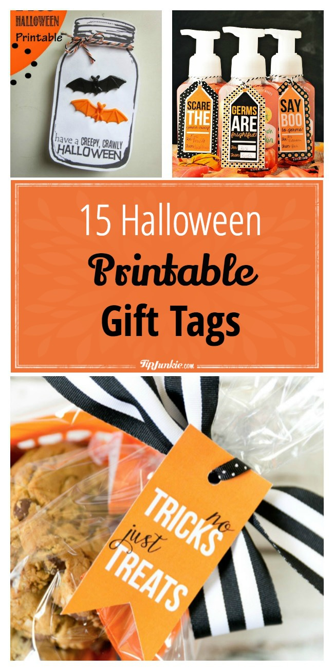 15 Halloween Printable Gift Tags {Free Printable} – Tip Junkie - Free Printable Halloween Decorations Scary