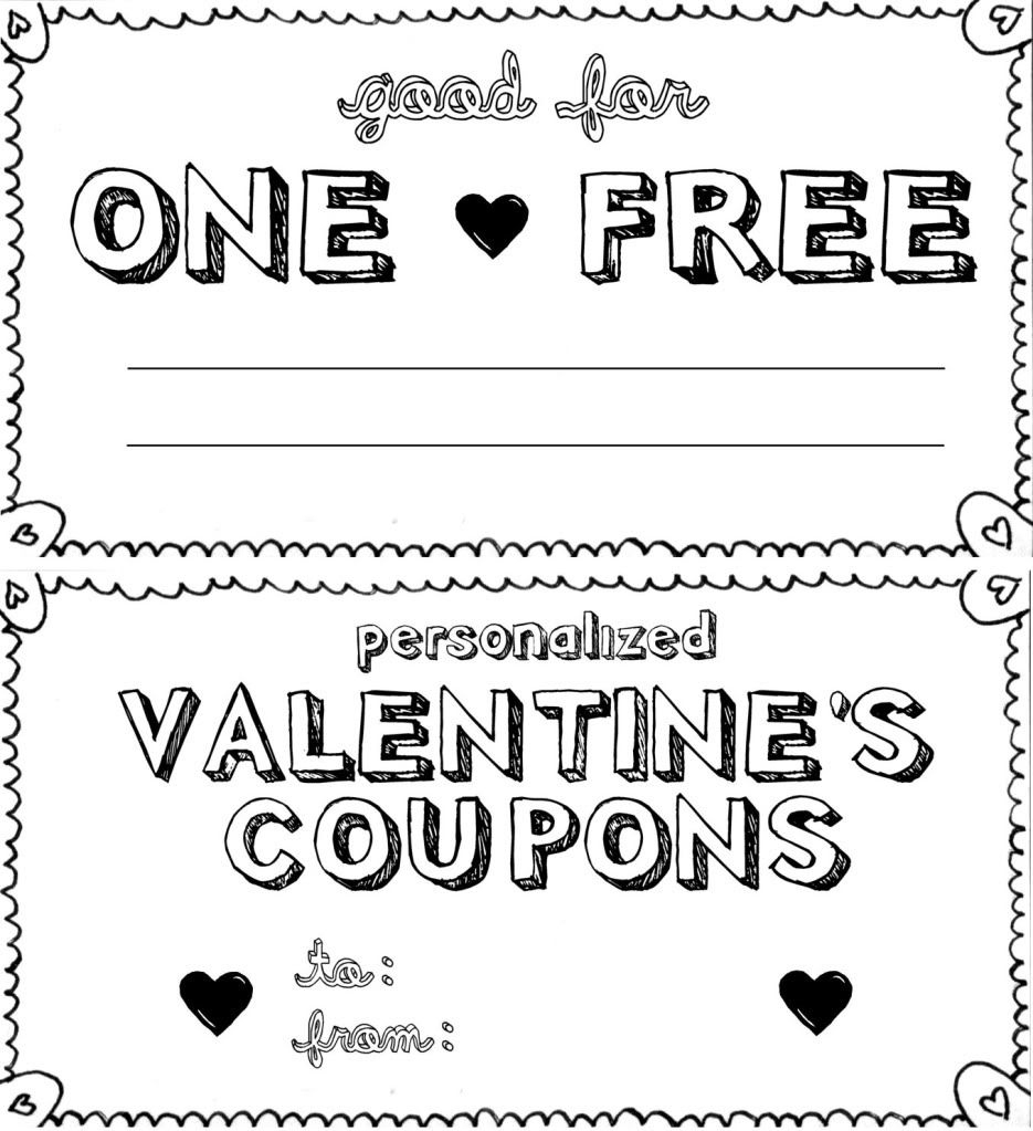 15 Sets Of Free Printable Love Coupons And Templates - Create Your Own Coupon Free Printable