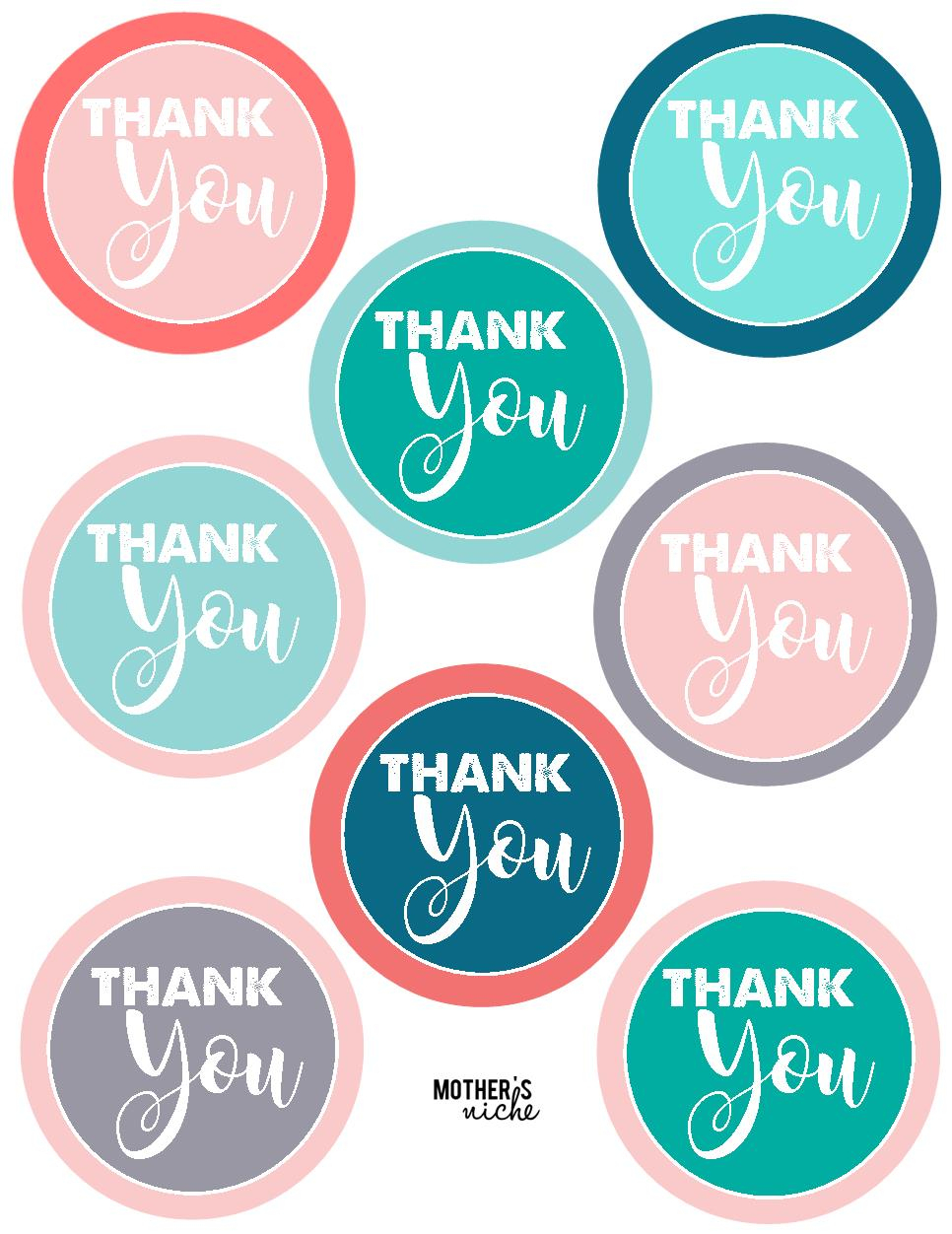 "15 Teacher Gift Ideas: Free Printable ""thank You"" Tags - Free Printable Thank You Tags"