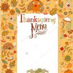 16+ Blank Menu Designs   Psd, Vector Format Download | Design Trends   Free Printable Thanksgiving Menu Template