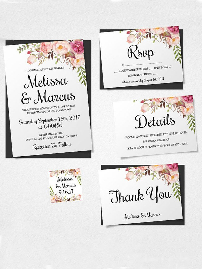 16 Printable Wedding Invitation Templates You Can Diy | Wedding - Free Printable Wedding Inserts
