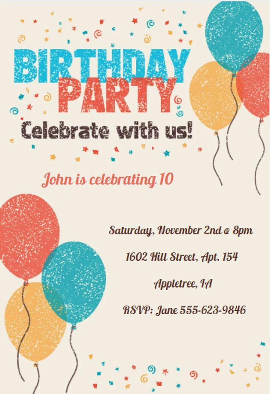 17 Free Birthday Invitation Designs | Everyone Loves A Birthday - 21St Birthday Invitation Templates Free Printable