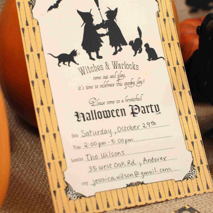 Free Online Halloween Invitations Printable