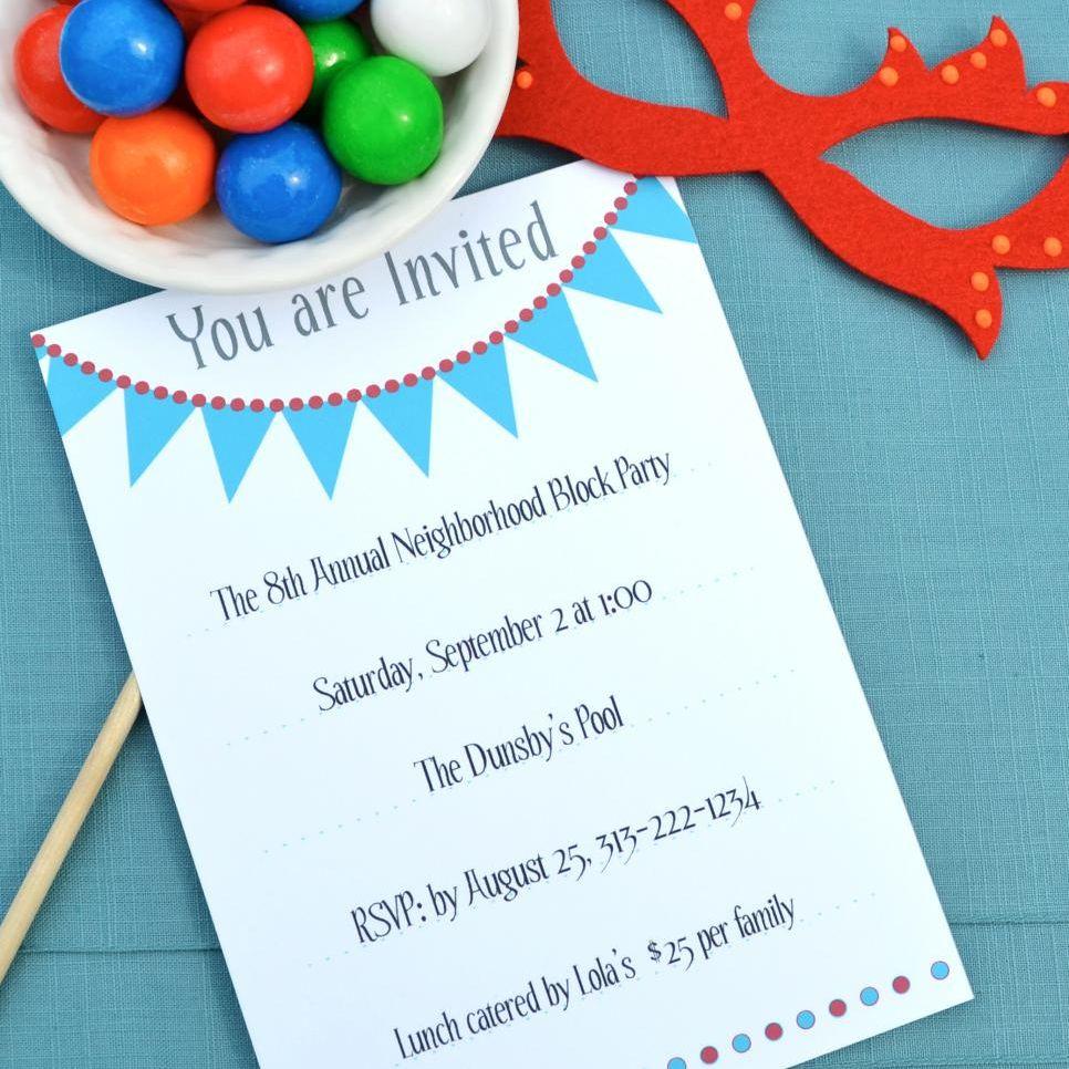 17 Free, Printable Birthday Invitations - Customized Birthday Cards Free Printable