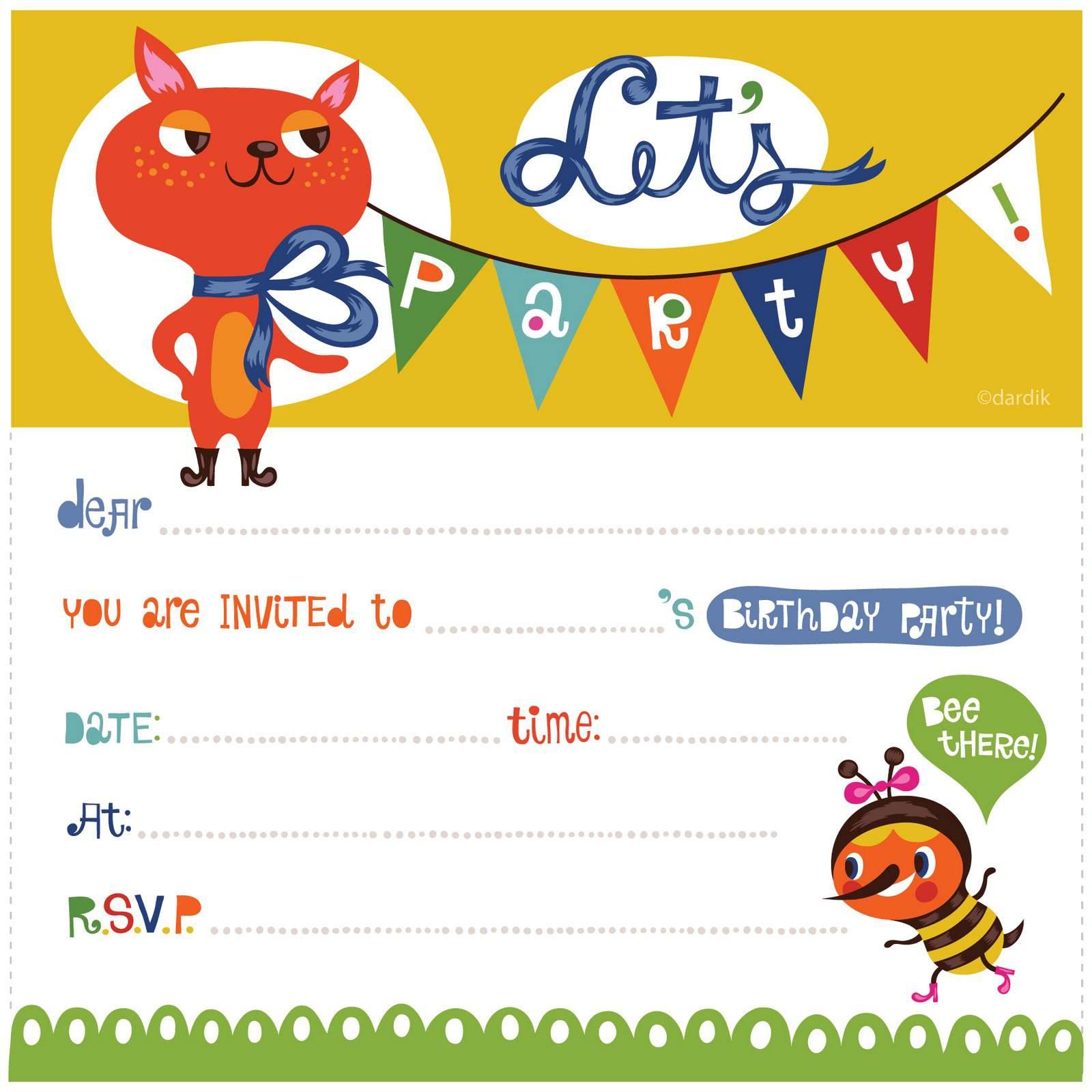 17 Free, Printable Birthday Invitations - Free Printable Toddler Birthday Invitations