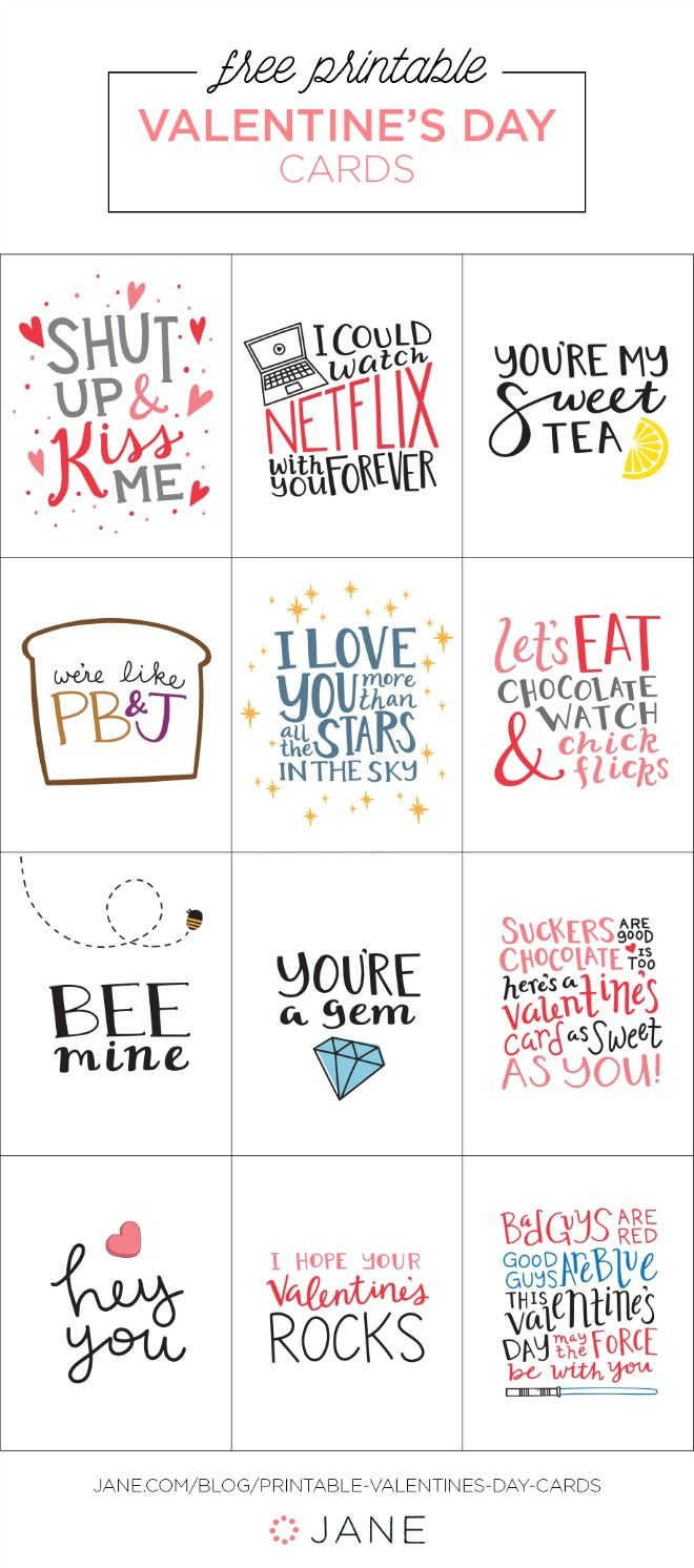 17 Free Printable Valentine Greeting Cards | Valentine's Inspiration - Free Printable Valentines Day Cards
