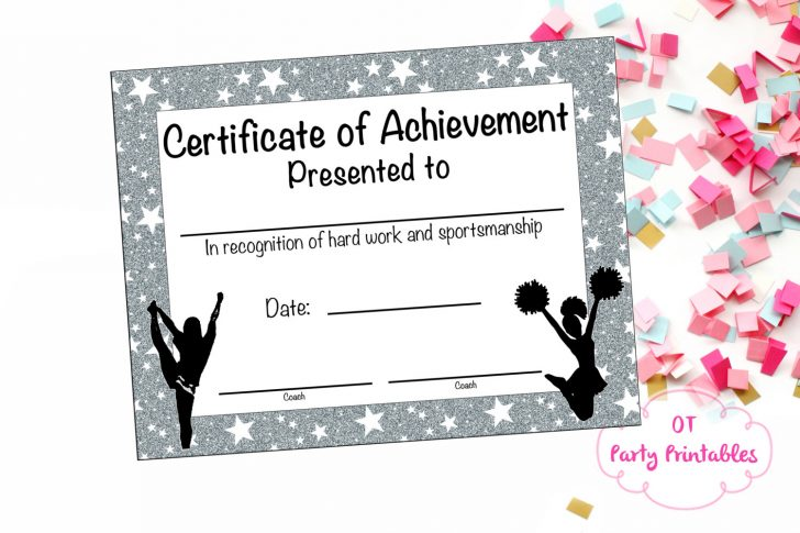Free Printable Cheerleading Certificates