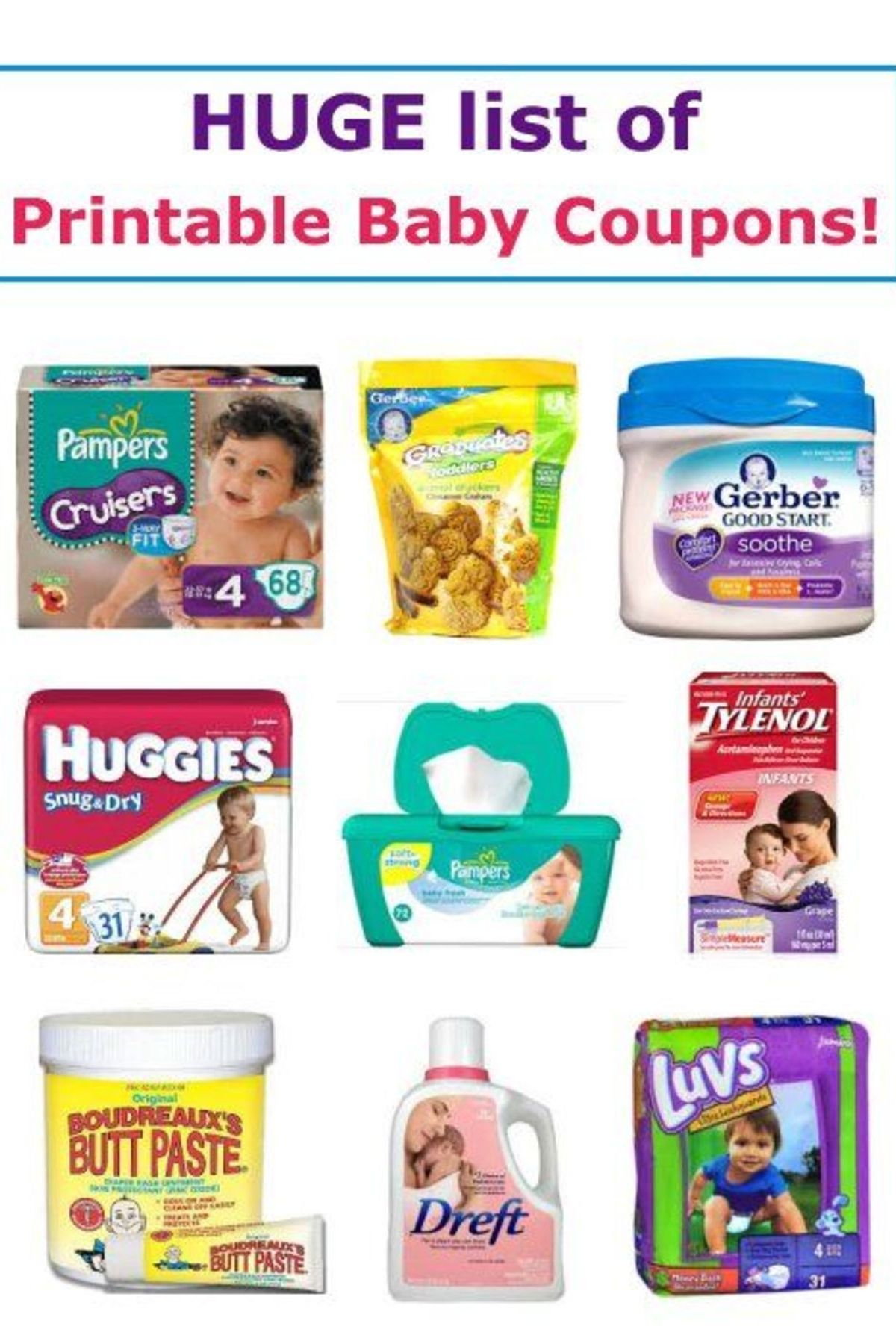 17 Printable Baby Coupons   Baby On A Budget   Baby Coupons, Baby - Free Printable Coupons For Baby Diapers