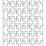 19 Printable Puzzle Piece Templates   Template Lab   Free Printable Blank Puzzle Pieces