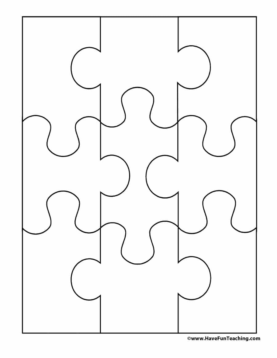 19 Printable Puzzle Piece Templates - Template Lab - Free Printable Blank Puzzle Pieces