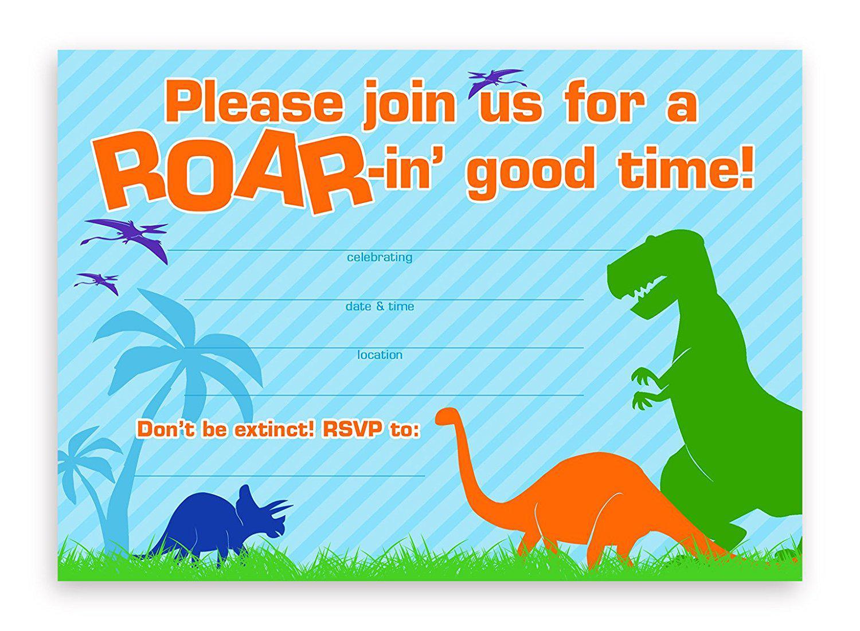 19 Roaring Dinosaur Birthday Invitations   Kittybabylove - Free Printable Dinosaur Birthday Invitations