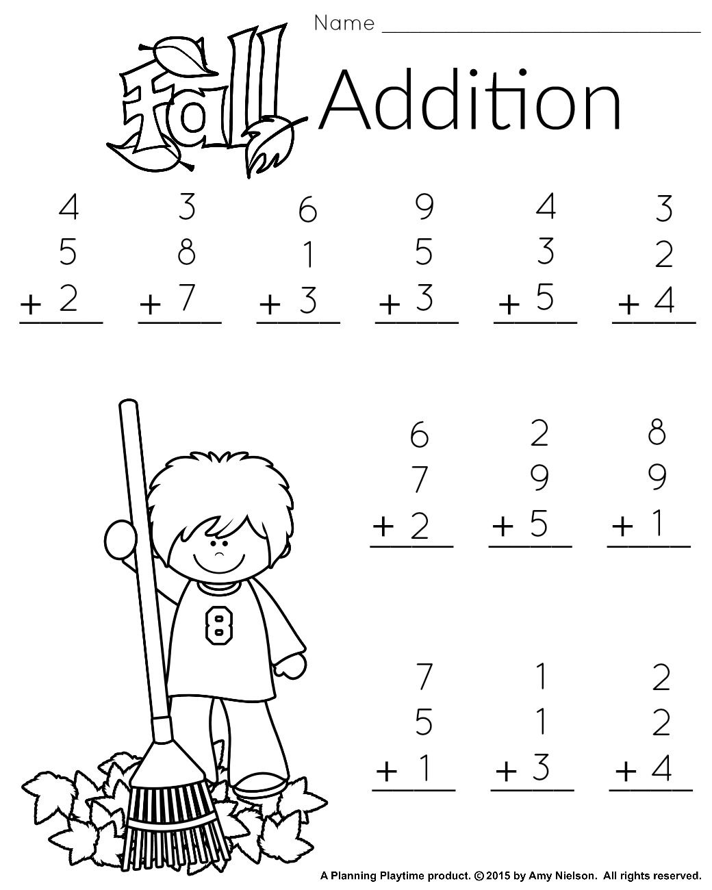 1St Grade Math And Literacy Worksheets With A Freebie - Free Printable Addition Worksheets For 1St Grade