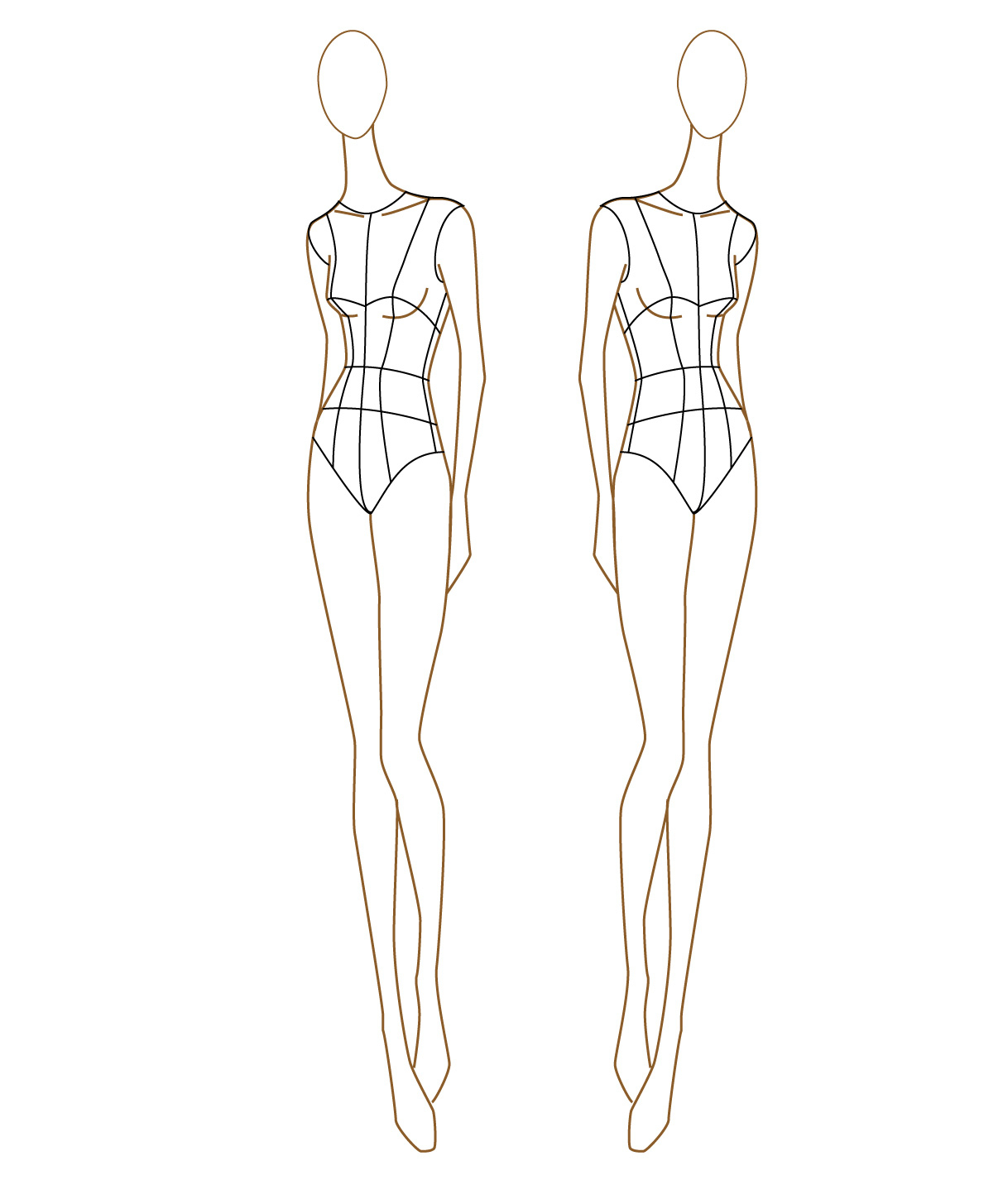 2 Drawing Mannequin Fashion Design For Free Download On Ayoqq - Free Printable Fashion Model Templates