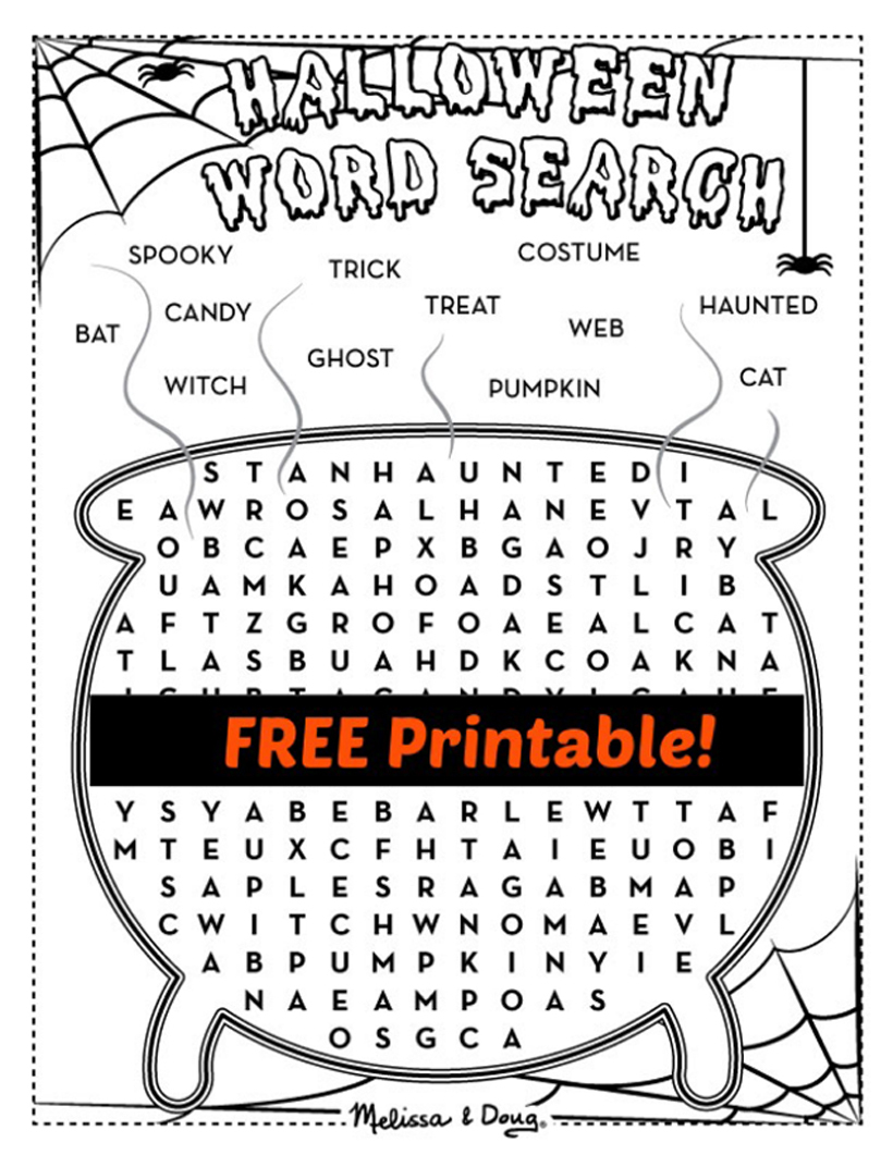 2 Printable Halloween Activity Pages For Kids | Melissa & Doug Blog - Free Printable Halloween Activities