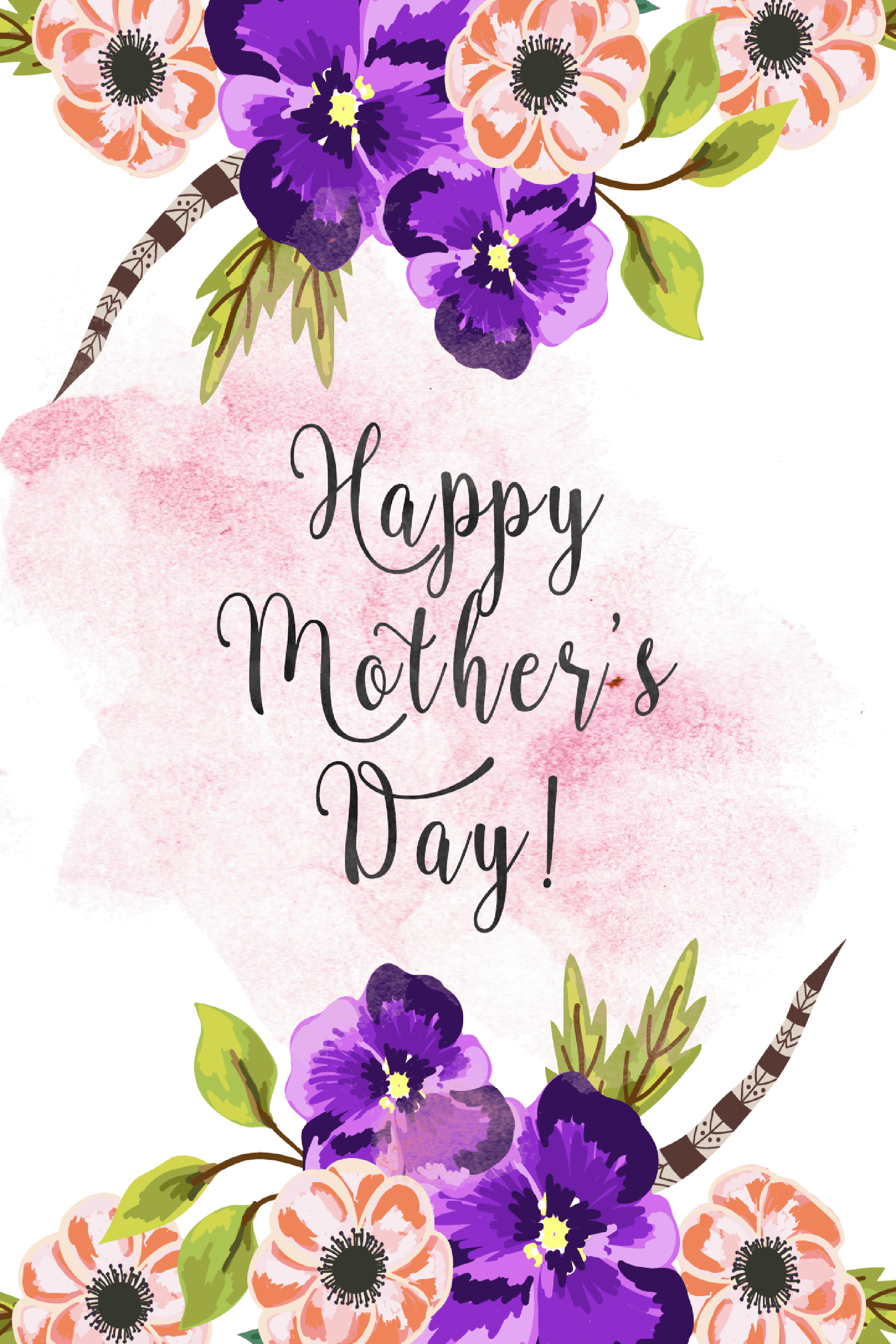 20 Cute Free Printable Mothers Day Cards - Mom Cards You Can Print - Free Printable Mothers Day Cards