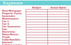 Free Printable Budget Template Monthly