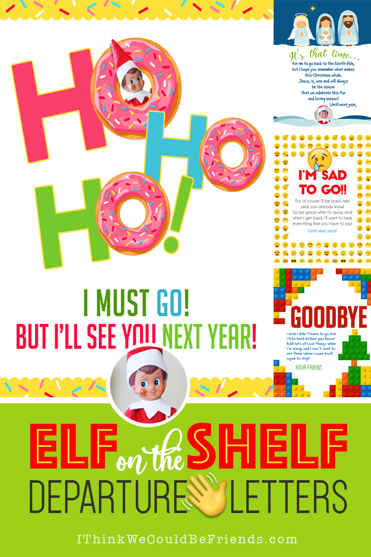20+ Elf On The Shelf Departure Letters– Many New Ideas For This Year! - Elf On The Shelf Free Printable Ideas