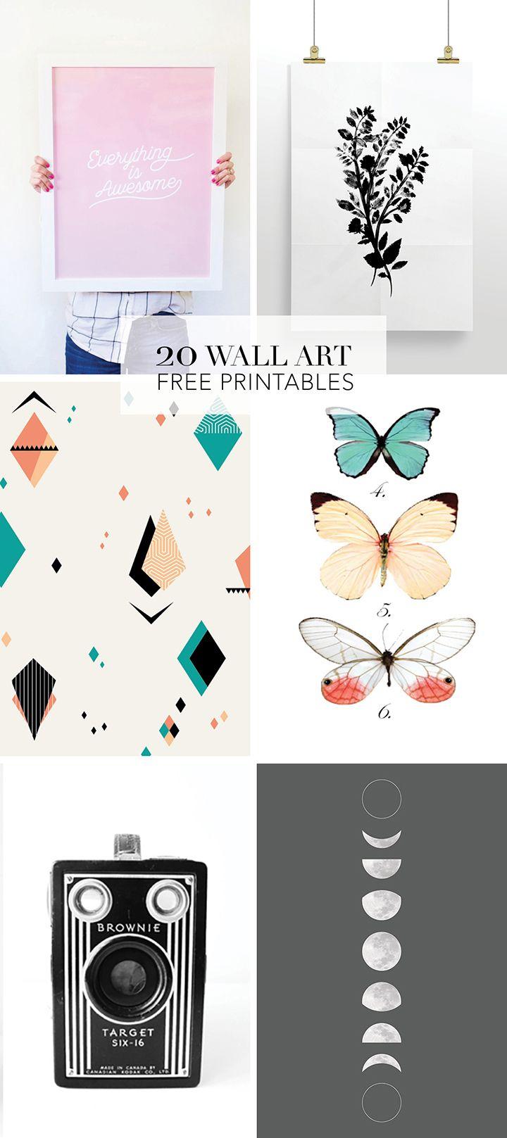 20 Favorite Wall Art Free Printables | Frases Lindas! | Ideias De - Free Printable Wall Posters