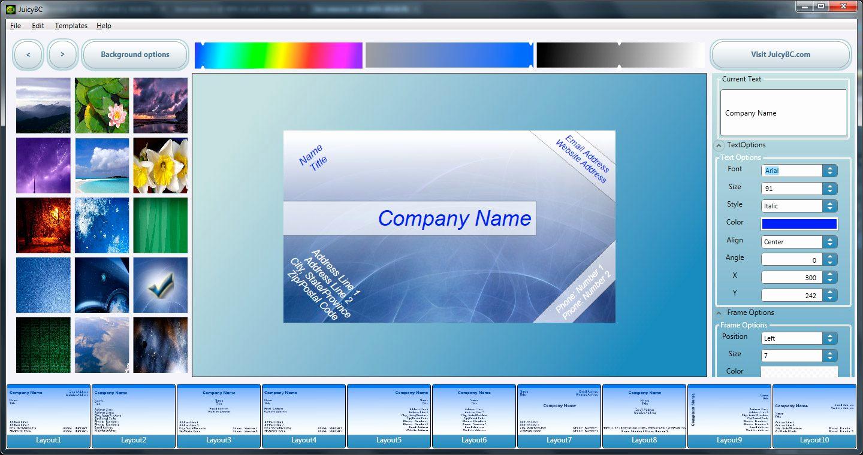 20 Free Business Card Maker Printable – Guiaubuntupt - Free Card Creator Printable