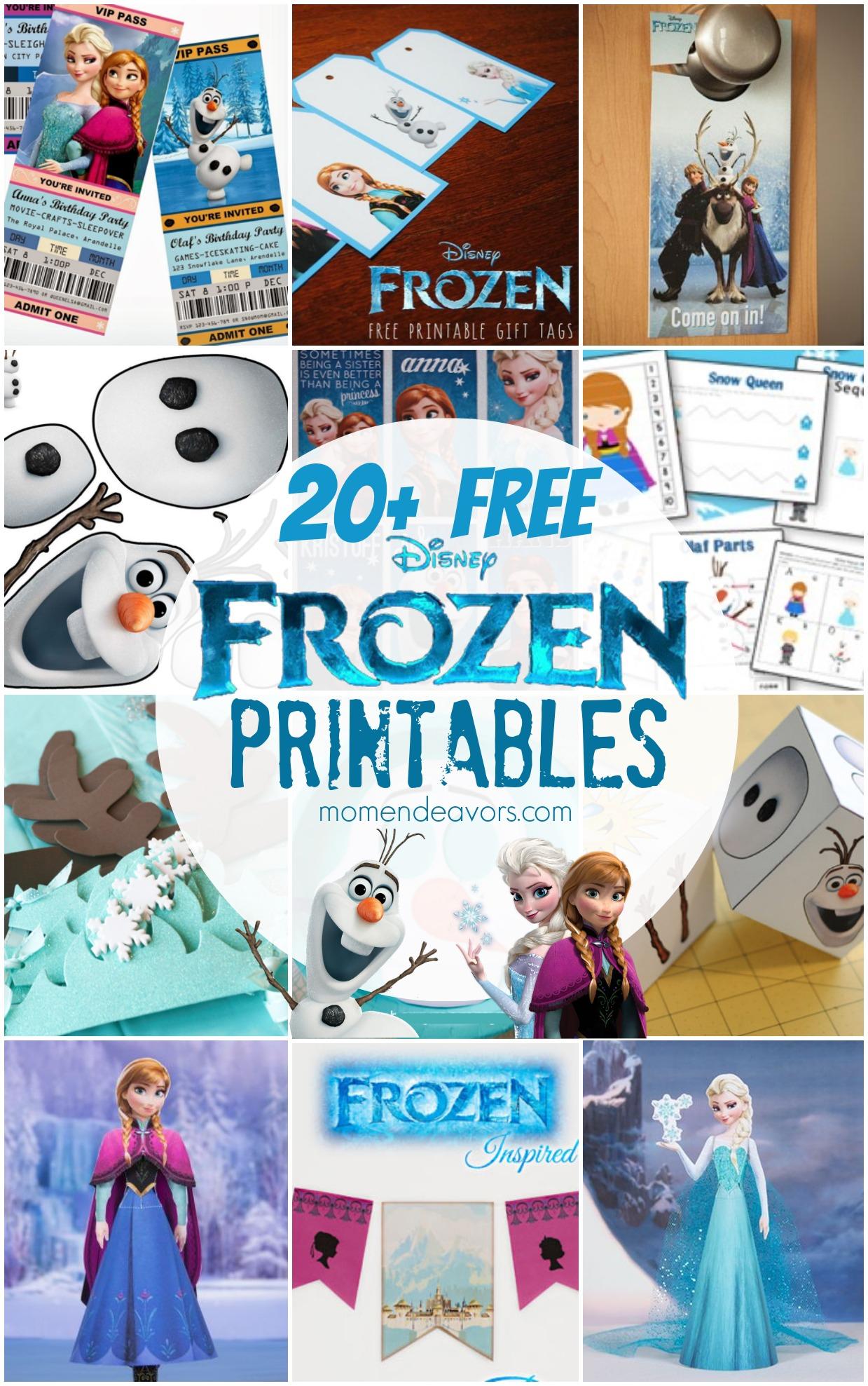 20+ Free Disney Frozen Printables {Activity Sheets & Party Decor} - Free Printable Frozen Birthday Invitations