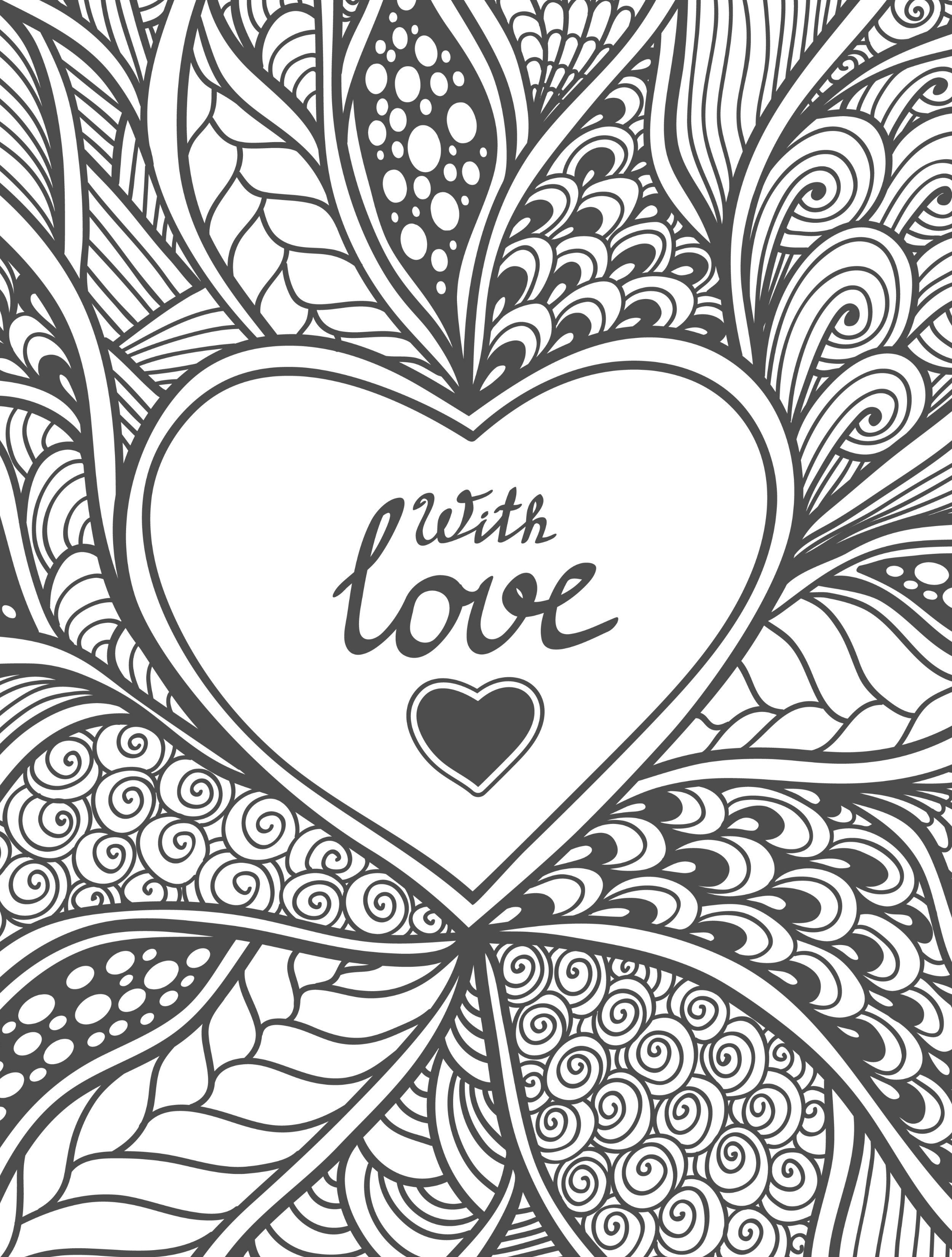20 Free Printable Valentines Adult Coloring Pages | Coloring | Free - Free Printable Heart Designs