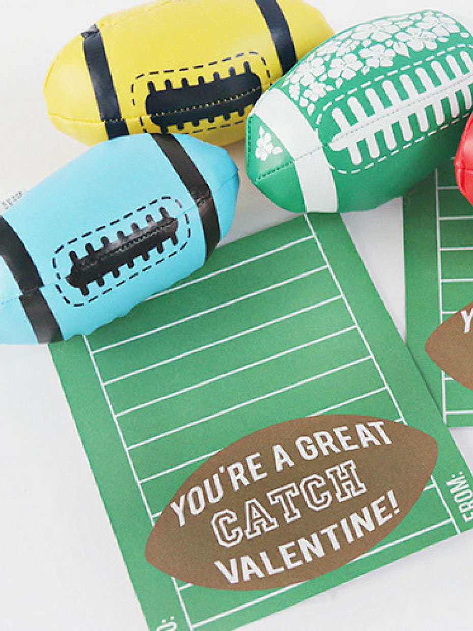 20 Free Valentine Printable Cards - Free Printable Football Valentines Day Cards