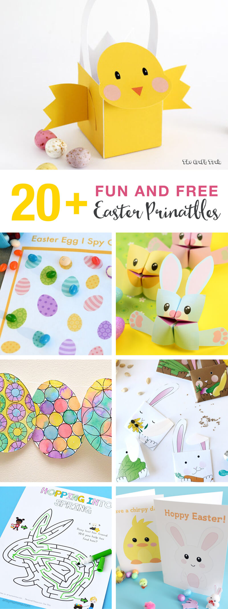 20+ Fun And Free Easter Printables For Kids | The Craft Train - Free Printable Easter Decorations
