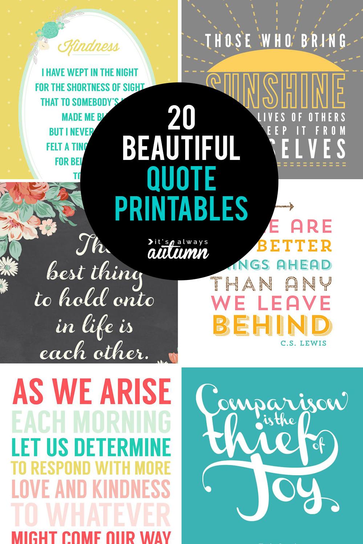 20 Gorgeous Printable Quotes | Free Inspirational Quote Prints - Free Printable Quote Stencils