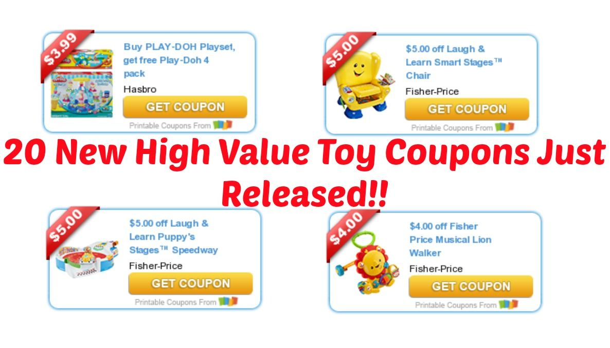 20 New High Value Toy Coupons Added This Morning! | I Don't Have - Free High Value Printable Coupons