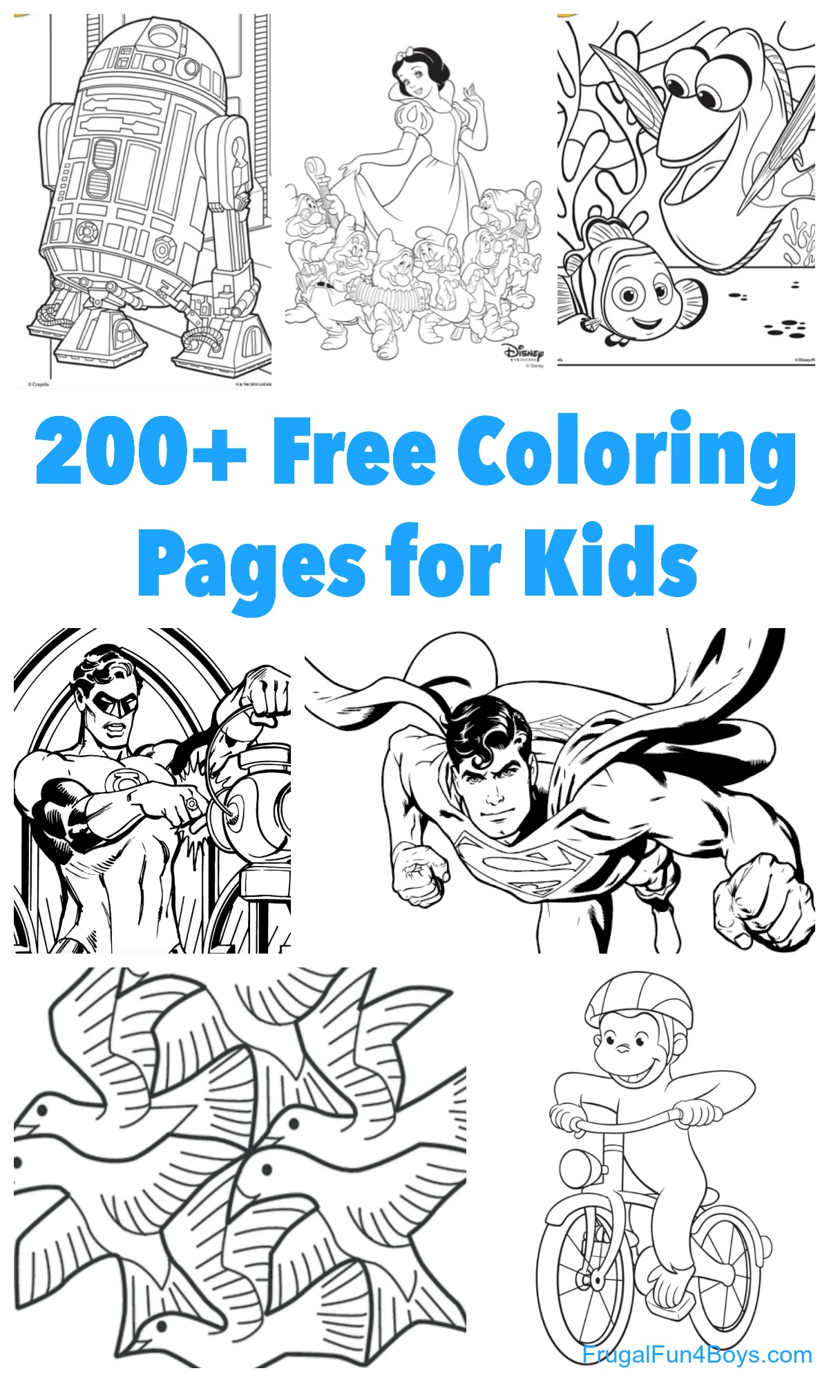 200+ Printable Coloring Pages For Kids - Frugal Fun For Boys And Girls - Free Printable Coloring Pages For Girls