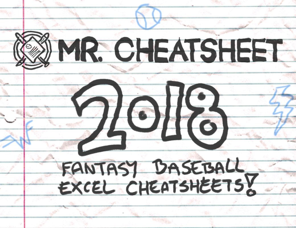2018 Fantasy Baseball Excel Cheatsheets (Roto And Points Leagues - Free Fantasy Cheat Sheet Printable