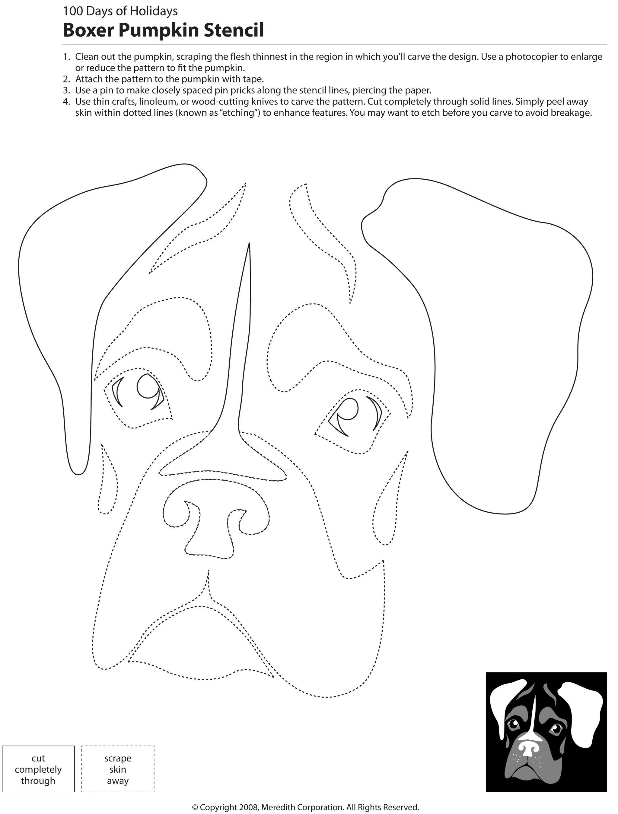 22 Free Pumpkin Carving Dog Stencils (Breed Specific) | Embroidery - Free Printable Pumpkin Carving Templates Dog