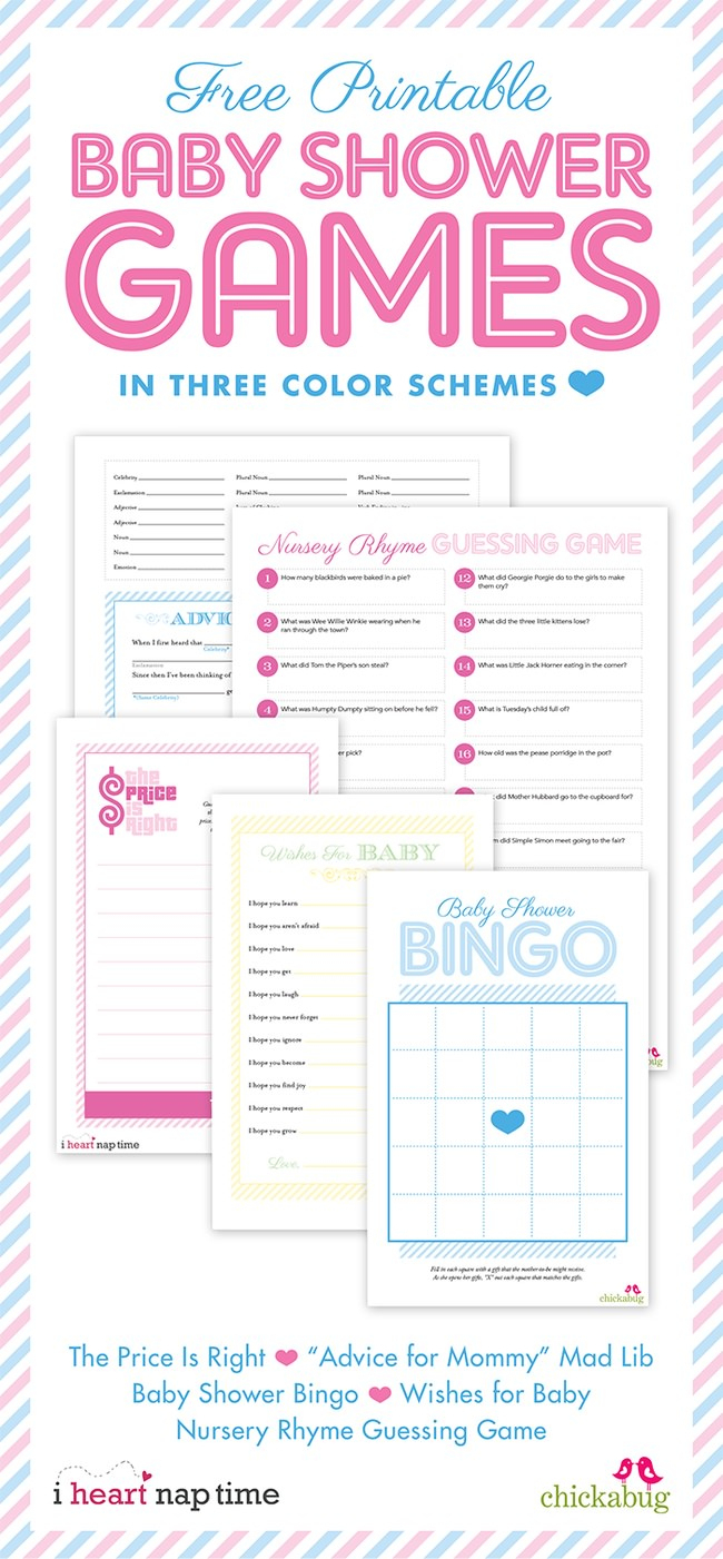 22 Fun & Free Baby Shower Games To Play! – Tip Junkie - Free Printable Baby Shower Games For Twins