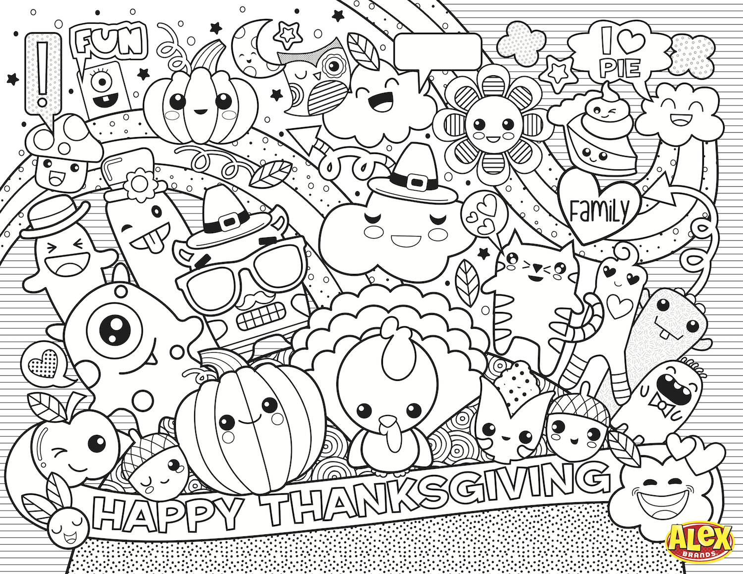 225+ Free Thanksgiving Printables And Coloring Pages For Kids - Free Printable Thanksgiving Coloring Placemats
