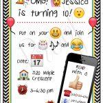 23 Free Printable Birthday Invitations (Downloadable | Hayden's 9Th   Free Printable Emoji B Day Invites