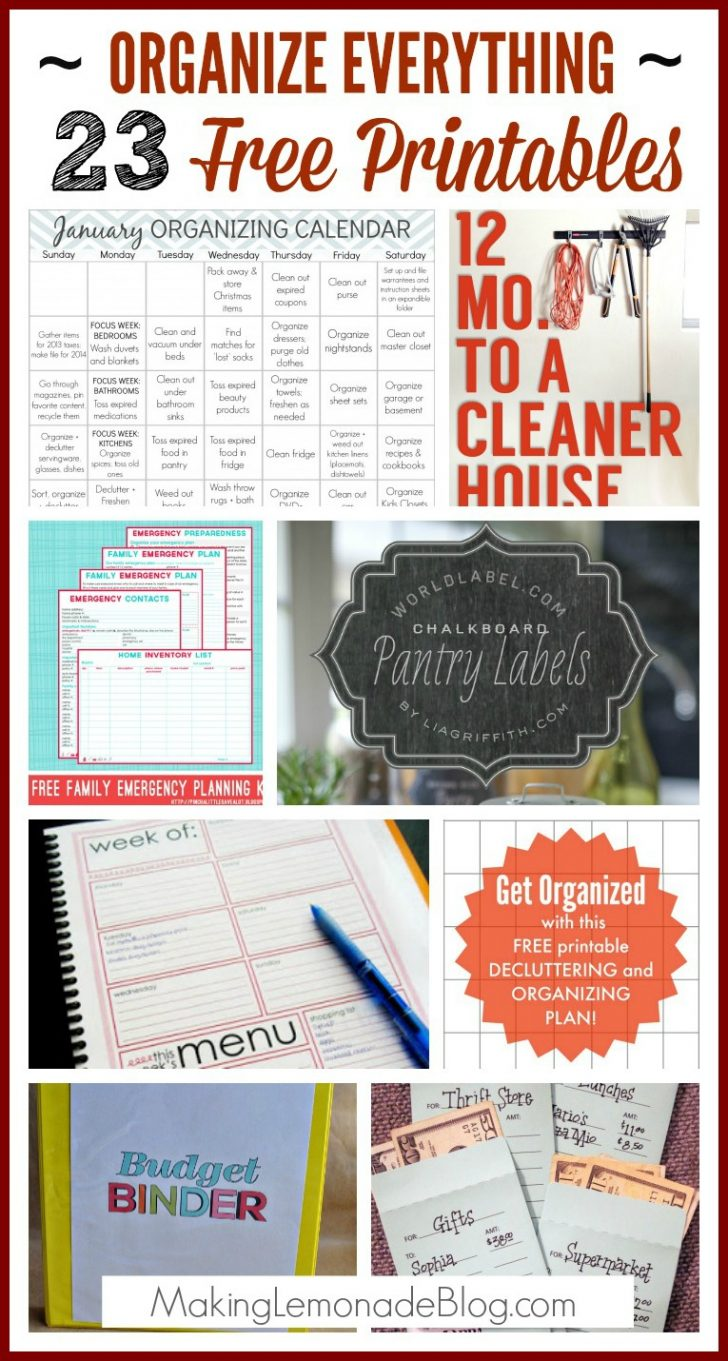 Free Printable Planners And Organizers
