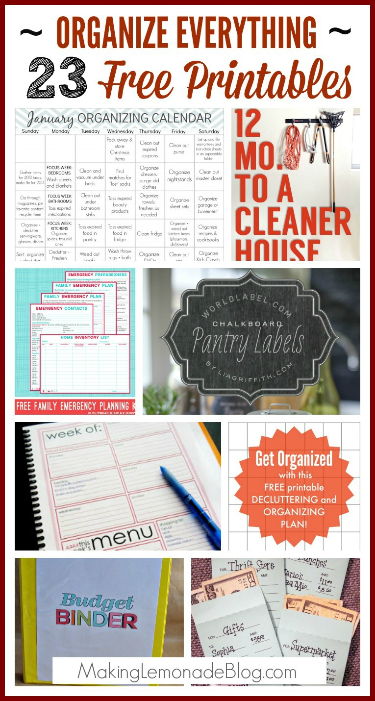 23 Free Printables To Organize Everything - Free Printable Planners And Organizers