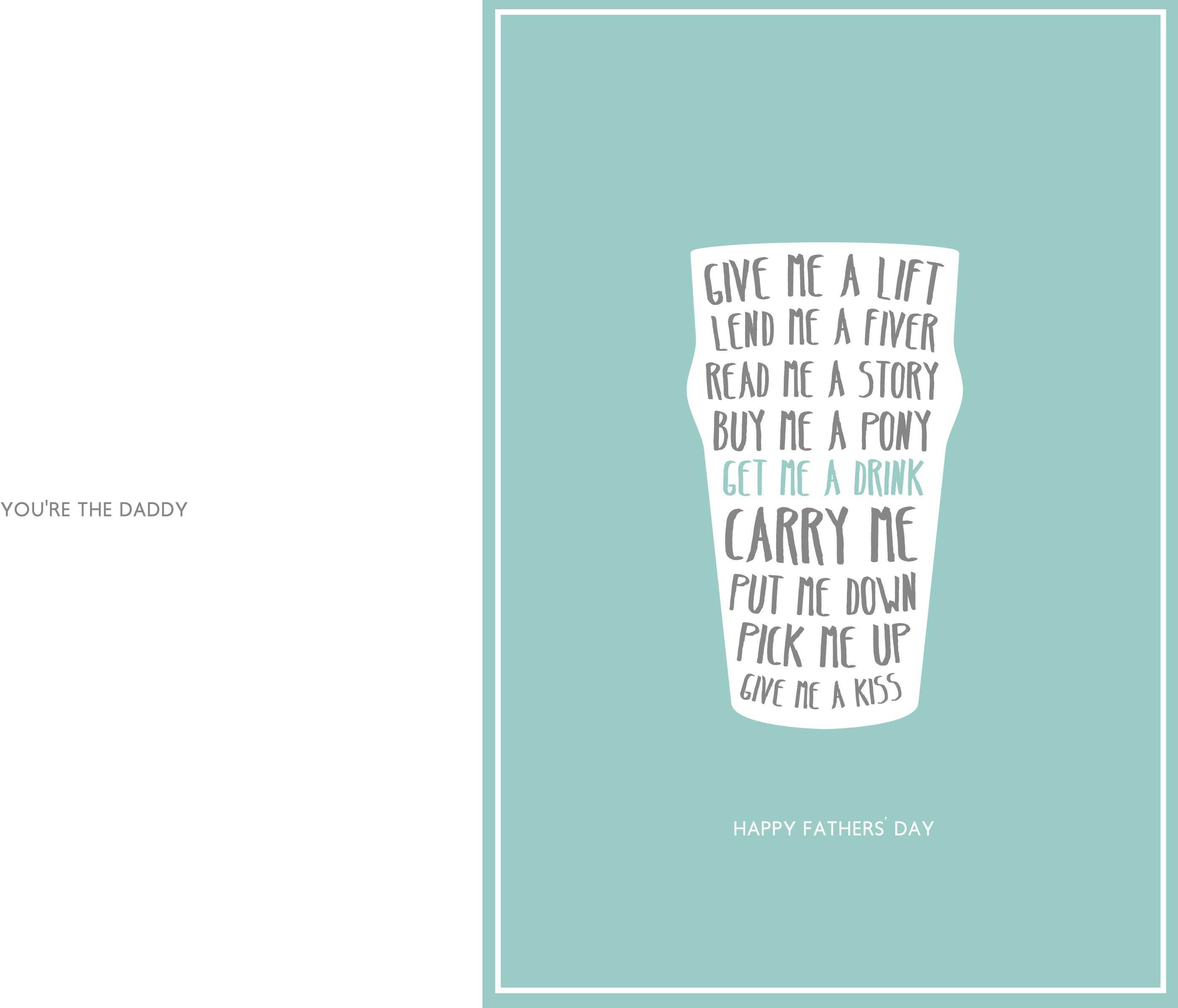 24 Free Printable Father's Day Cards Kitty Baby Love - Free Printable Fathers Day Cards
