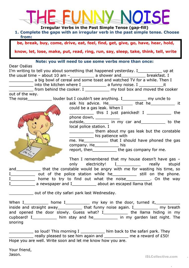 2420 Free Esl Past Simple Tense Worksheets - Free Printable Past Tense Verbs Worksheets