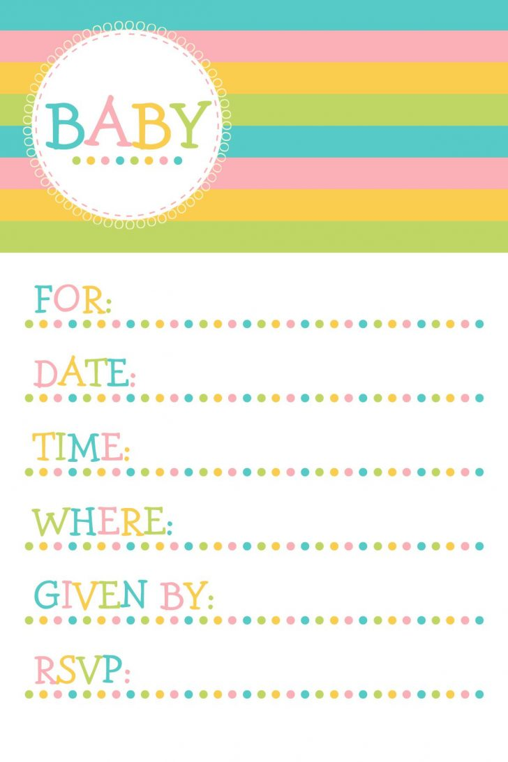 Baby Invitations Printable Free
