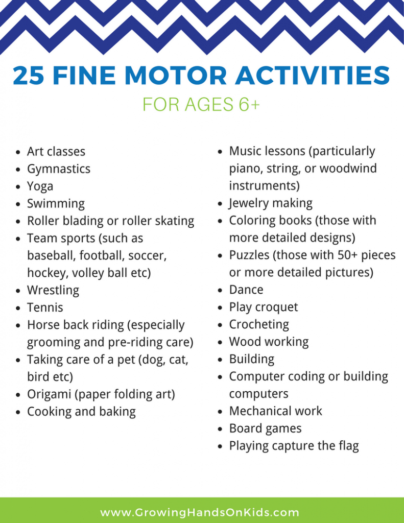 25 Fine Motor Activities For Older Kids (Ages 6+) | Free Printable - Free Printable Fine Motor Skills Worksheets