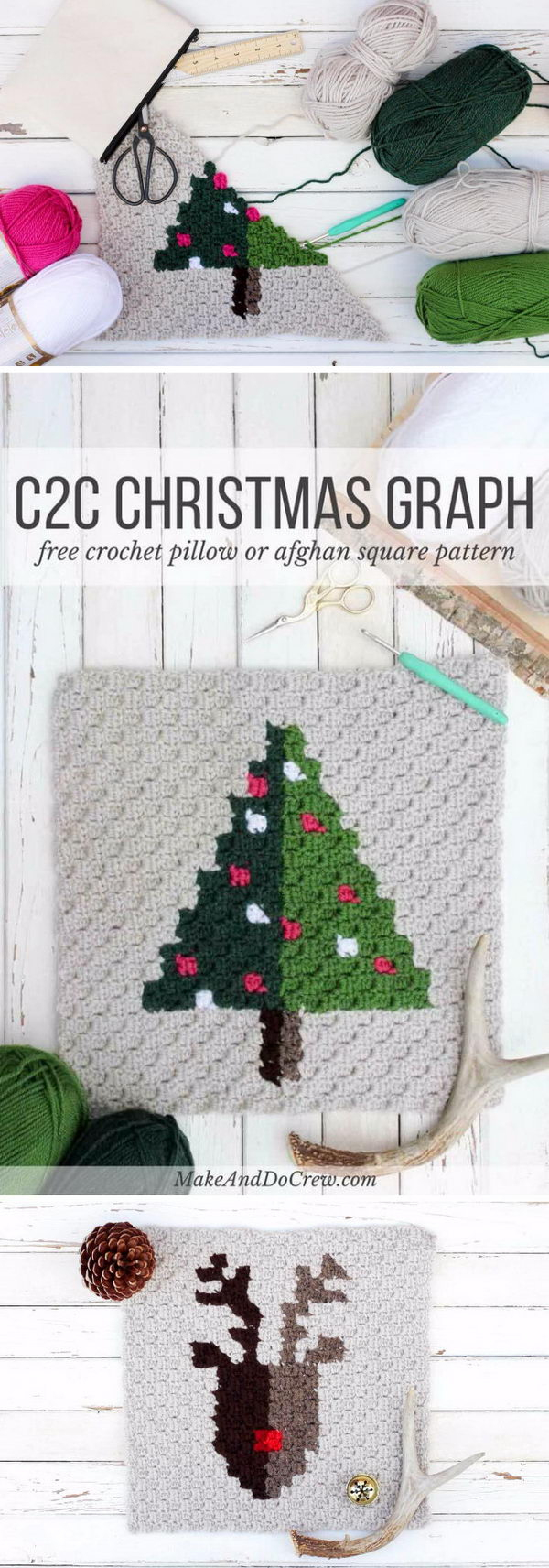 25+ Free Christmas Crochet Patterns For Beginners - Hative - Free Printable Christmas Crochet Patterns