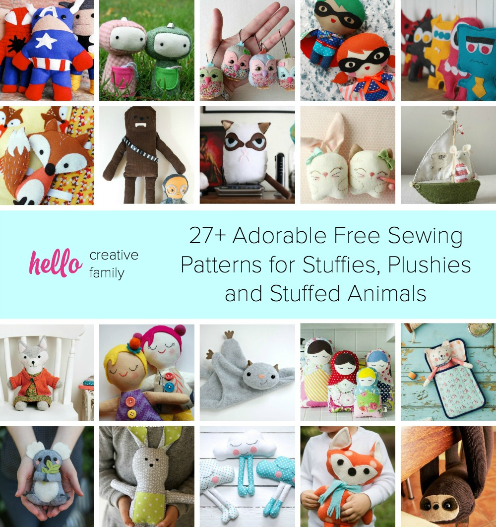 27+ Adorable Sewing Patterns For Stuffies, Plushies, Stuffed Animals - Free Printable Stuffed Animal Patterns