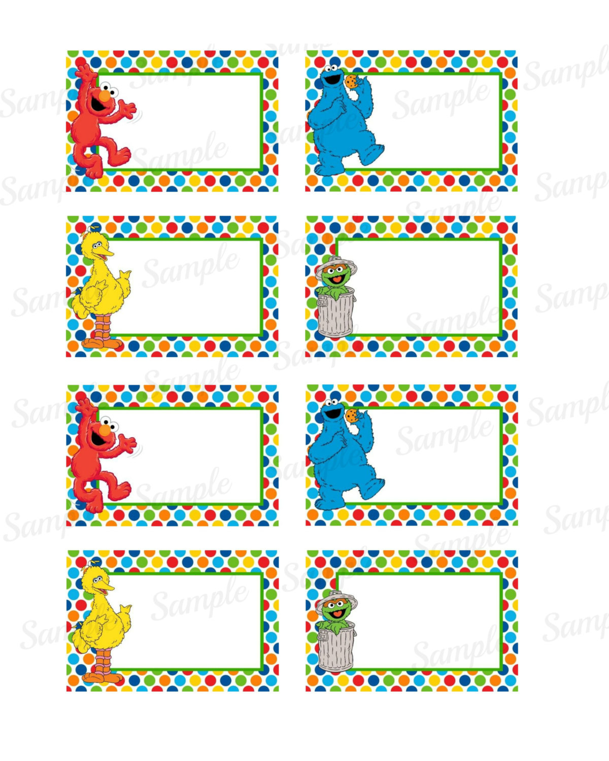 27 Images Of Elmo Label Template | Bfegy - Free Printable Sesame Street Food Labels