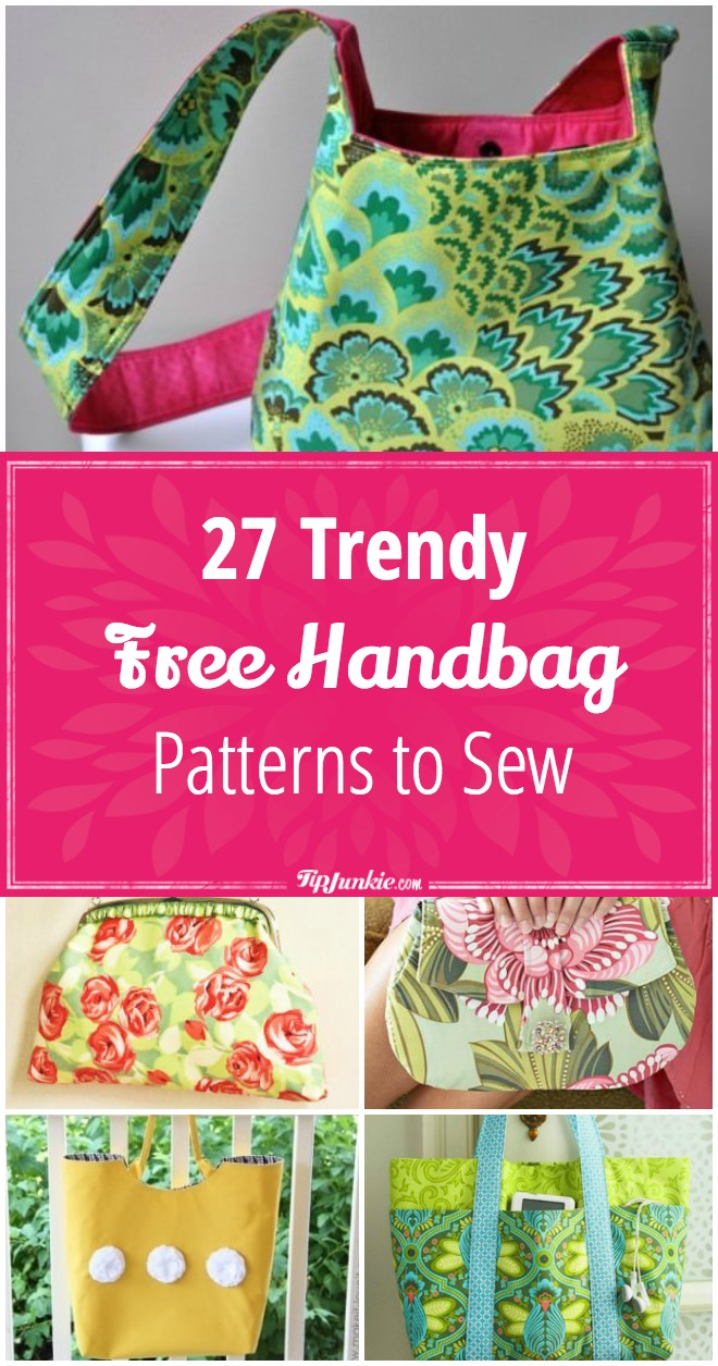 27 Trendy Free Handbag Patterns To Sew – Tip Junkie - Free Printable Purse Patterns To Sew